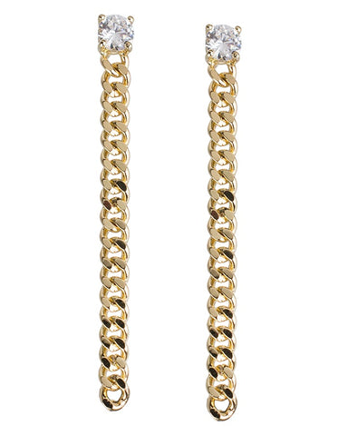 Short Dainty Curb Chain Earrings