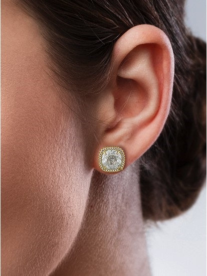 Cushion Cut CZ Earrings