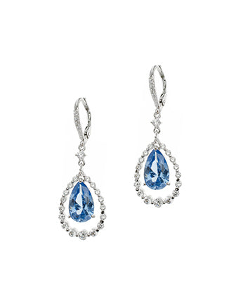 Aqua Pear Drop Earrings