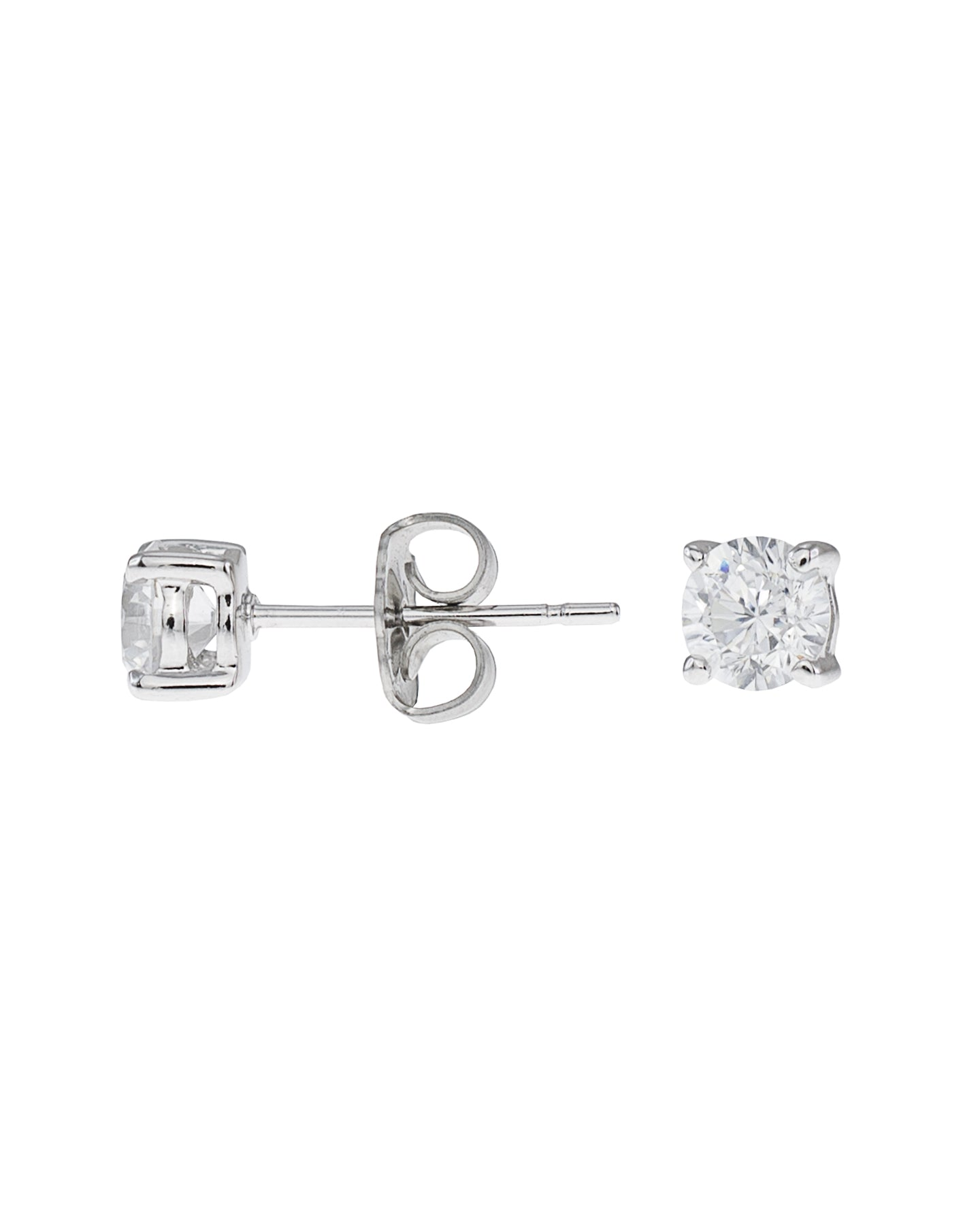 1 cttw Round CZ Earring