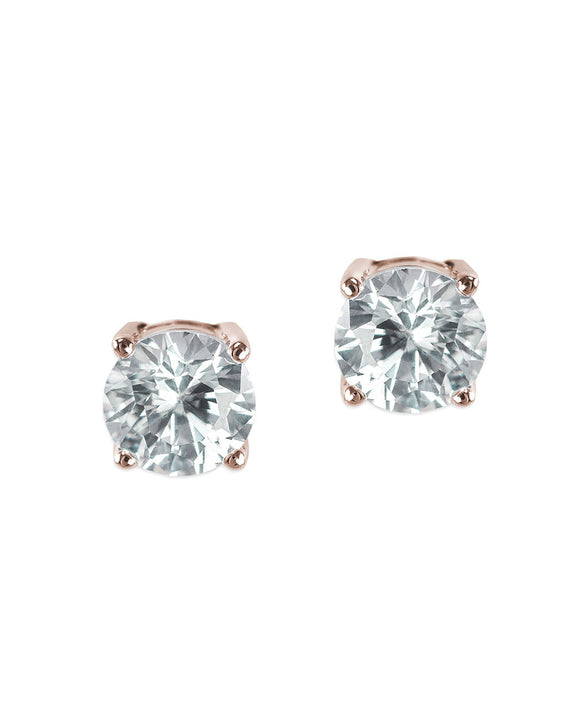 Classic Rose Gold Plated Pierced Stud Earring
