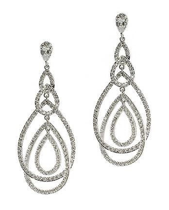 Open Teardrop Cascading Earring