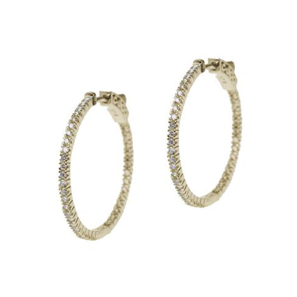 Inside Out Yellow Gold Plated Hoop Earring