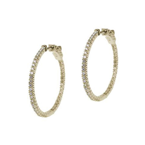 Yellow Gold Inside Out Hoop Earrings