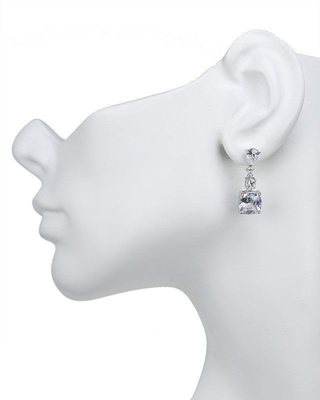 Petite Cushion Drop Earrings