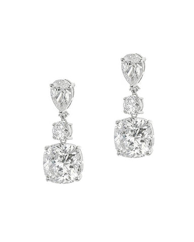 Large Pear CZ Drop Earrings
