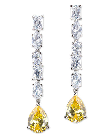 Canary Yellow Linear Drop Pear Earring