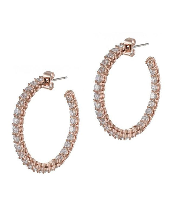 Rose Gold Inside Out Hoop Earrings