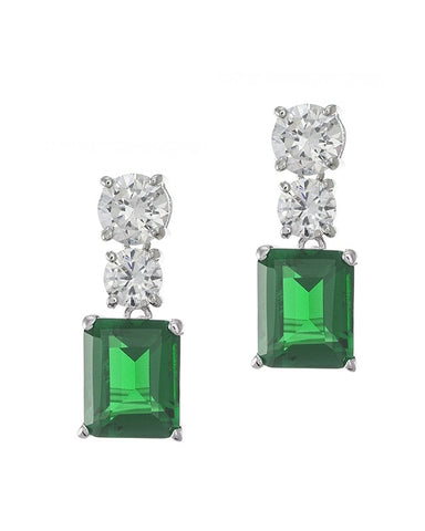 Graduated Emerald CZ Necklace