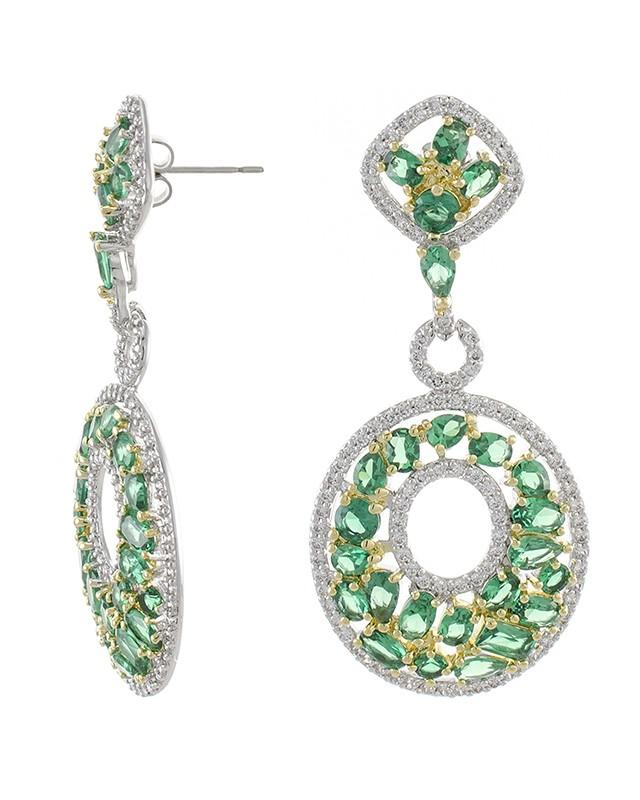 Multi Shape Emerald Earrings