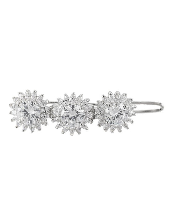 Triple Round and Marquise CZ Hair Pin