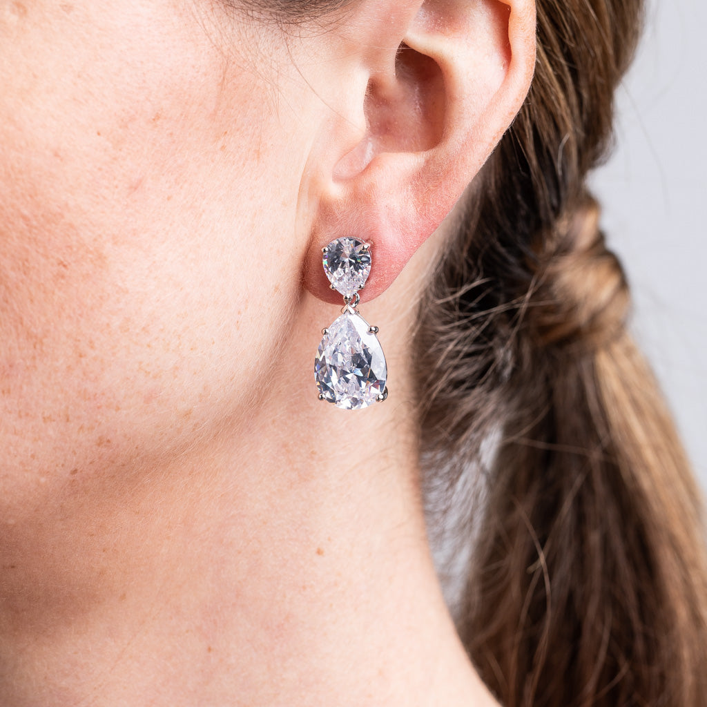 Double Pear Drop Earring