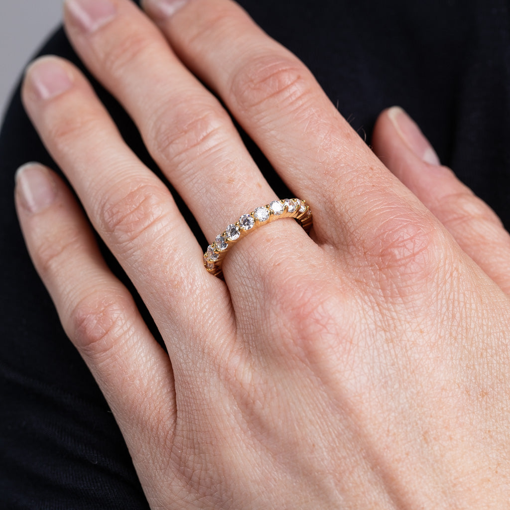 Round Gold Eternity Band