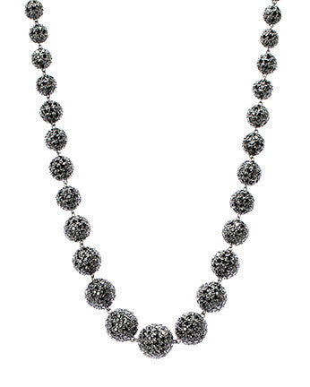 Black Pave Ball Necklace