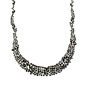 Multi Tiered Baguette Necklace