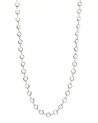 "36"" CZ Bezel Set Necklace"