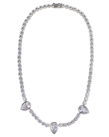 Multi Shape CZ Necklace