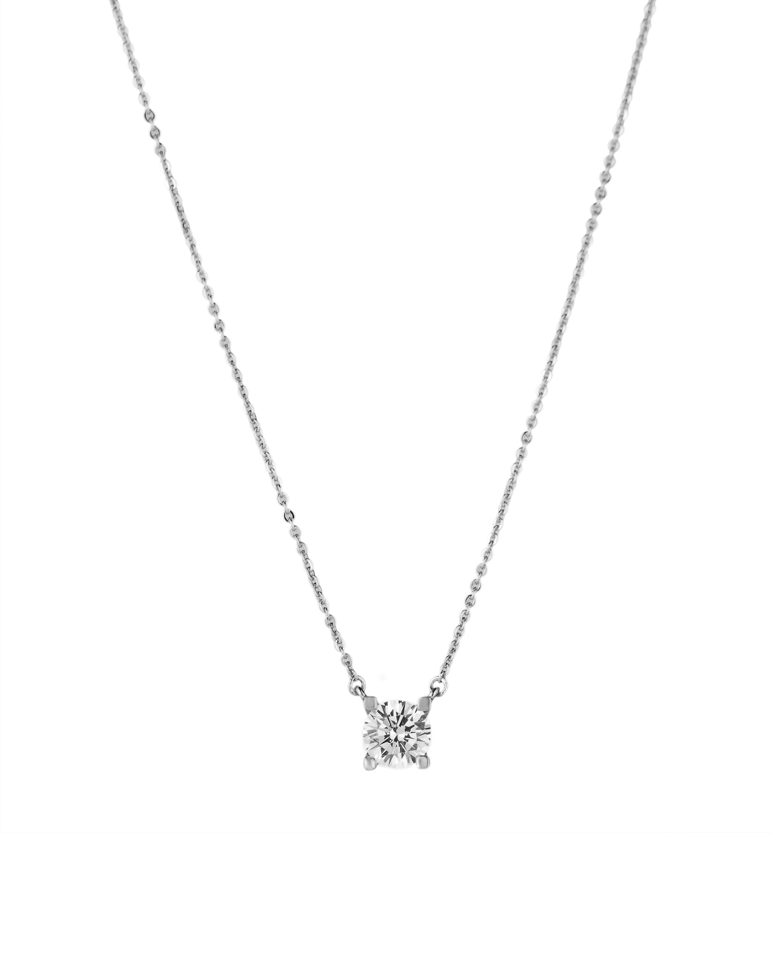 Round Prong Set Pendant Necklace