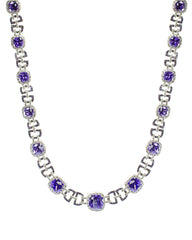 Amethyst Link Necklace