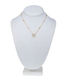 Gold Plated Cushion Pendant Necklace
