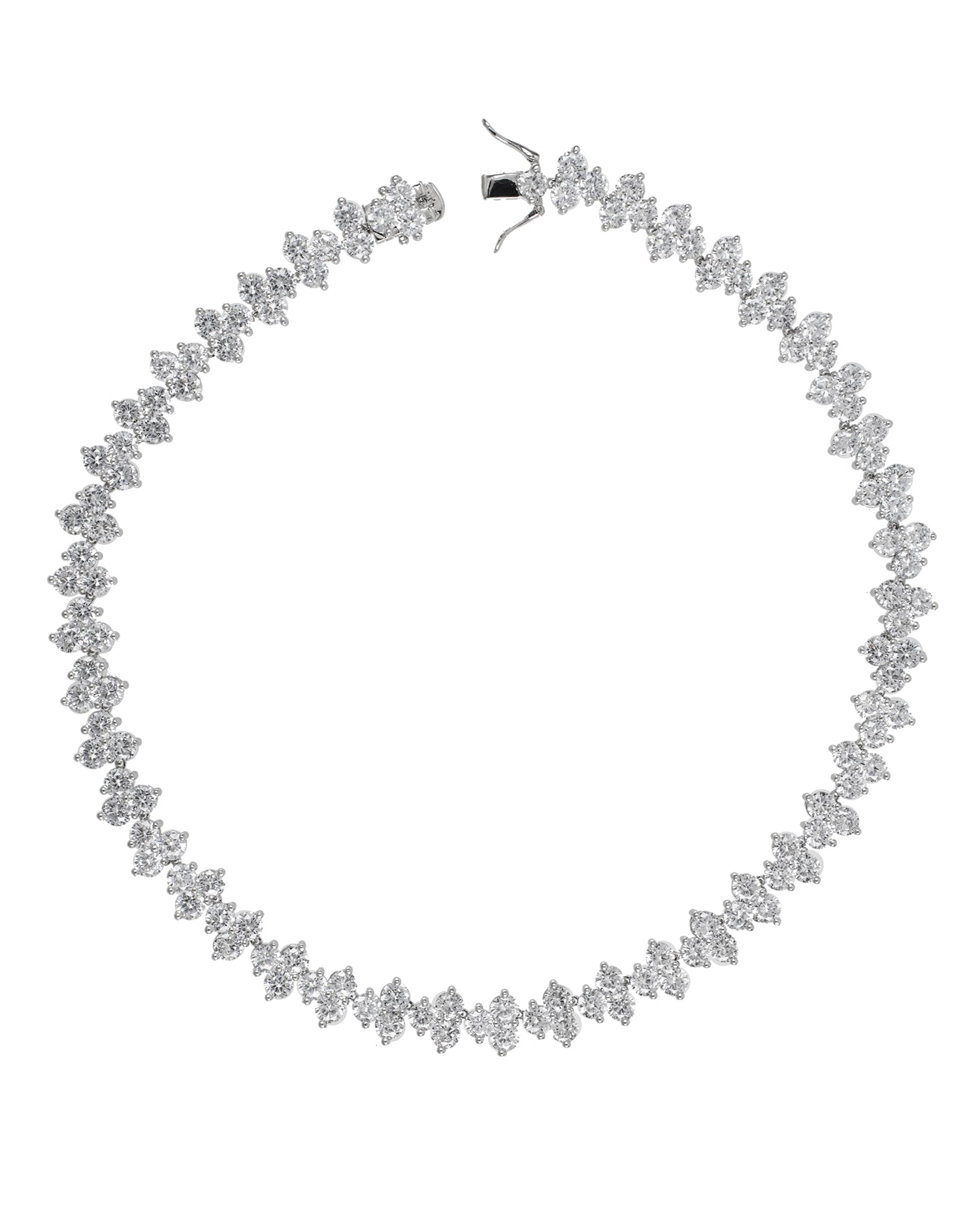 Round Triple Cluster Necklace