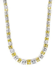 Emerald Cut Canary CZ Necklace