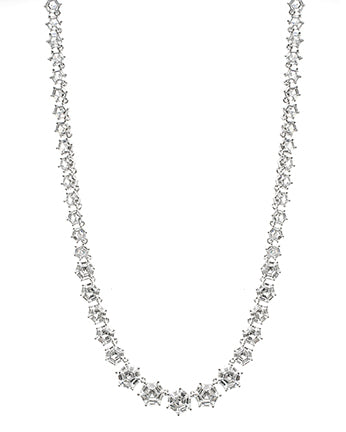 Oval and Round CZ Necklace