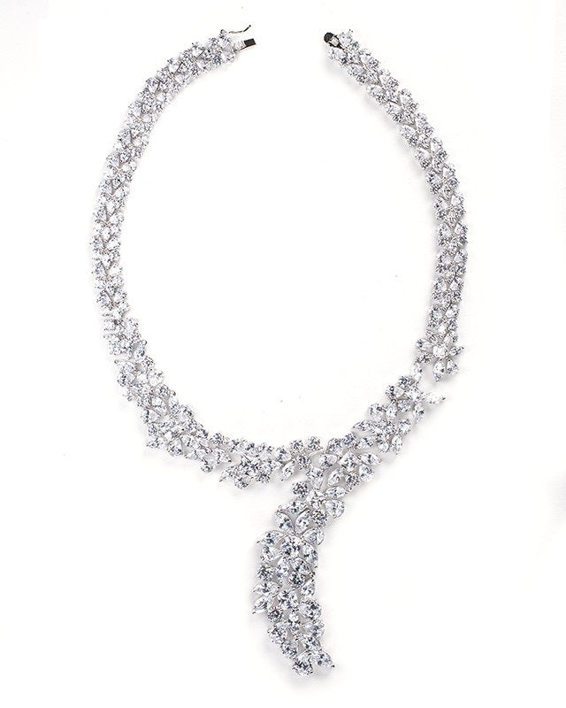 Multi Shape CZ Statement Necklace