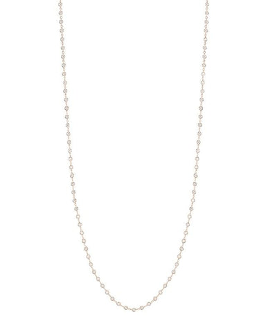 Round Double Strand CZ Necklace