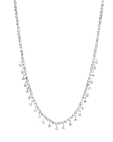 Multi Shape CZ Double Row Necklace