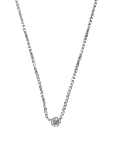 Classic Round Riviere Necklace