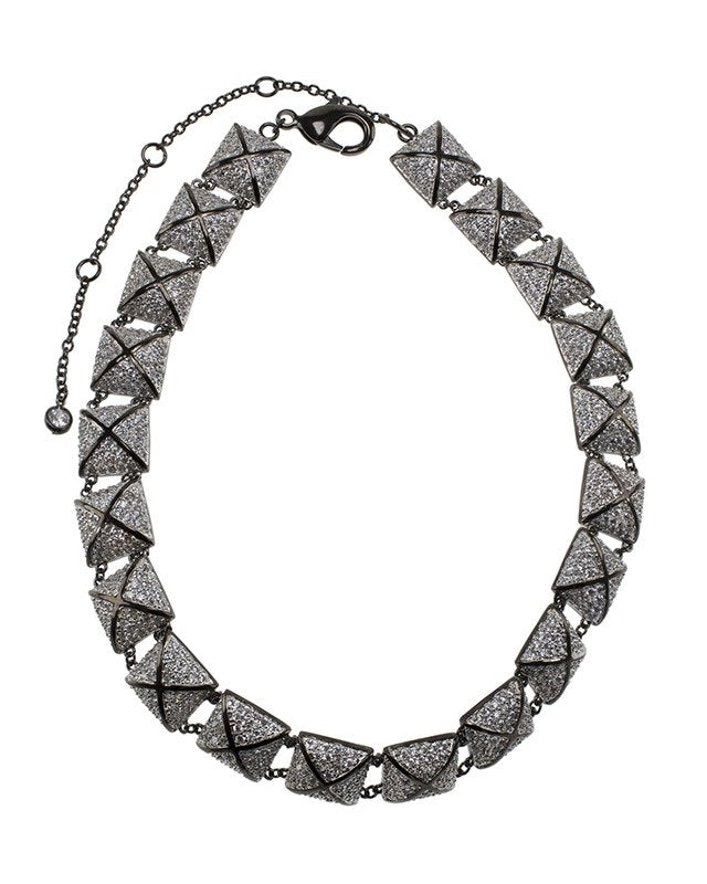 Pave Pyramid Necklace