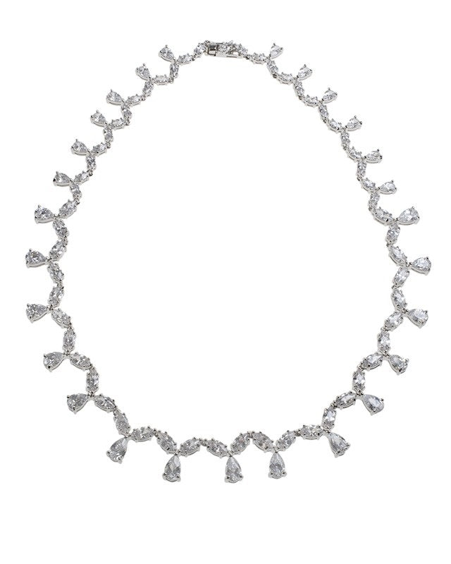 Marquise and Pear CZ Necklace