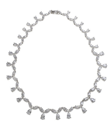 CZ Necklace with Drops