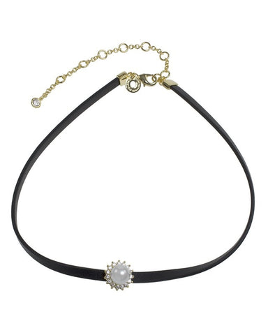 Pave and Pearl Choker