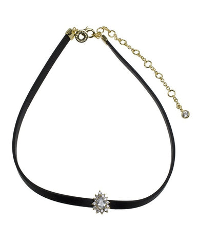 Double Pave Pear Choker