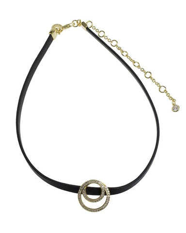 Interlocking Circle Charm Choker