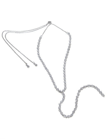 Pear CZ Y-shape Necklace
