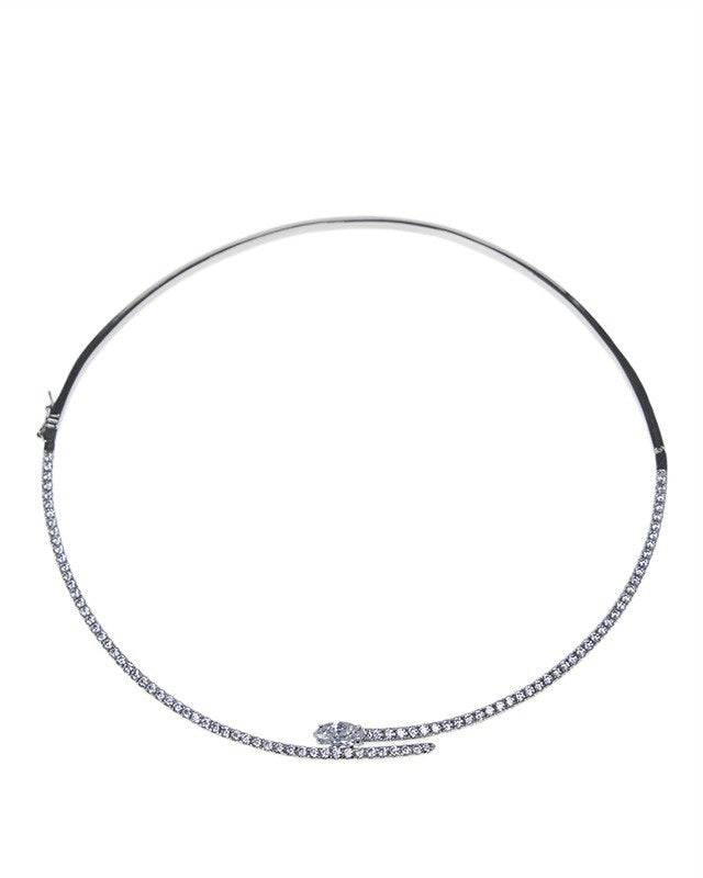 Sleek CZ Collar Necklace