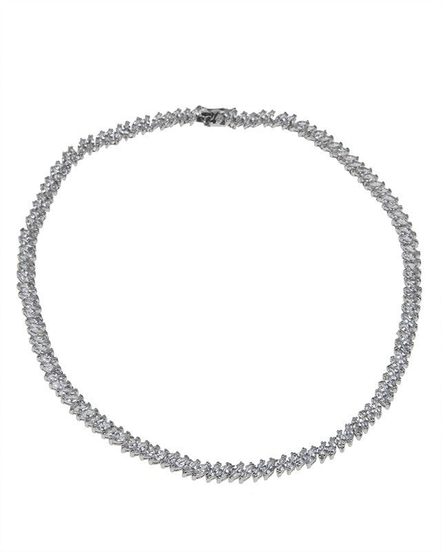 Marquise Cubic Zirconia Necklace