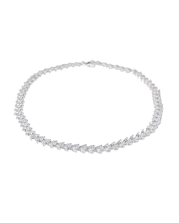 Marquise and Round CZ Necklace