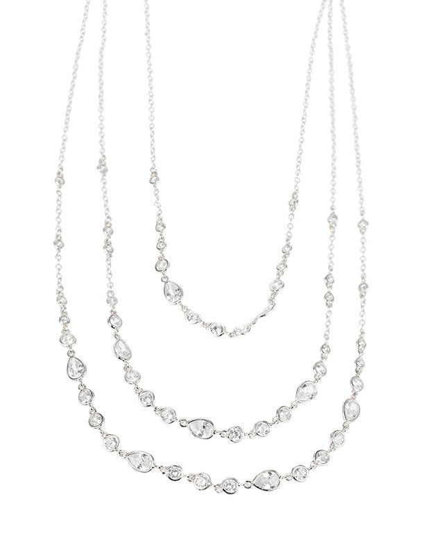Triple Layered CZ Necklace