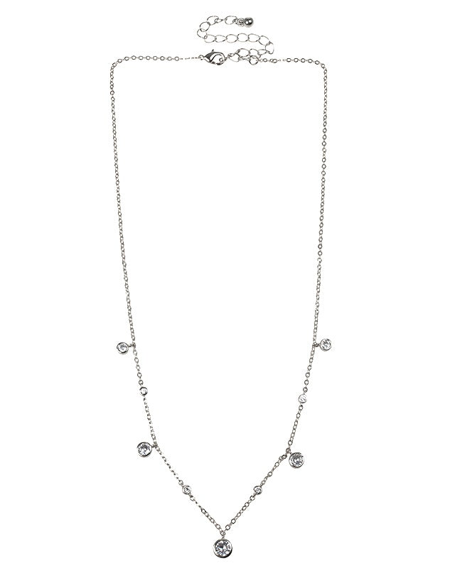 Dainty CZ Station Necklace