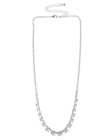 "36"" Round Bezel Set Necklace"