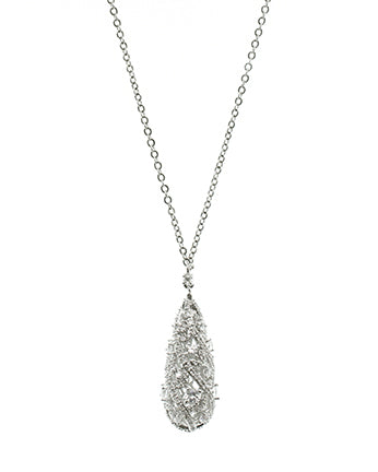 Pear CZ Drop Necklace