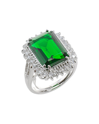 Emarald CZ Statement Ring