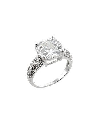 Cushion CZ ring