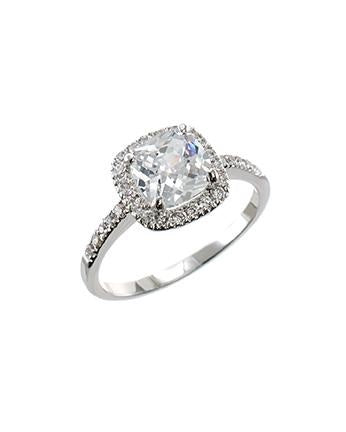 Petite Cushion Cut CZ Ring
