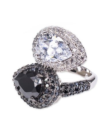 Black Double Pear Ring
