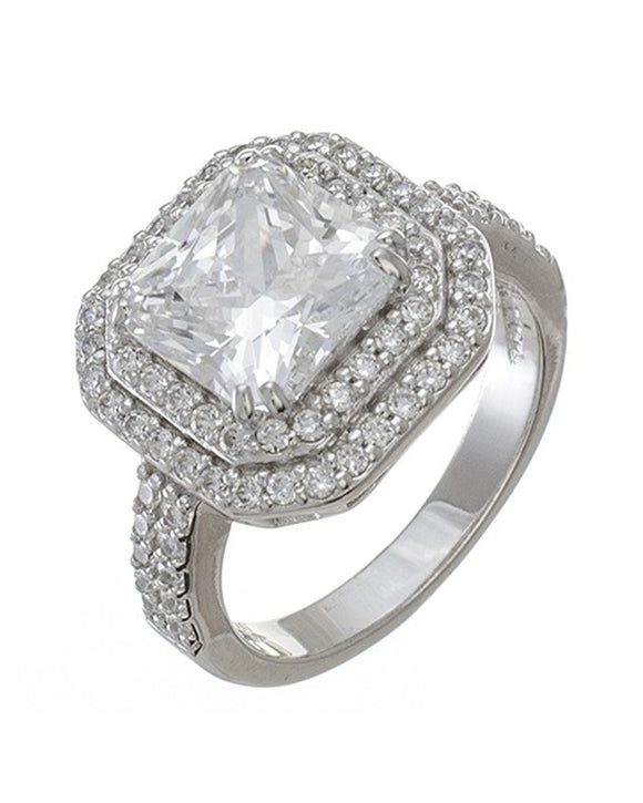 Princess Cut Double Halo Ring